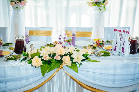 table set for wedding or another catered event dinner.