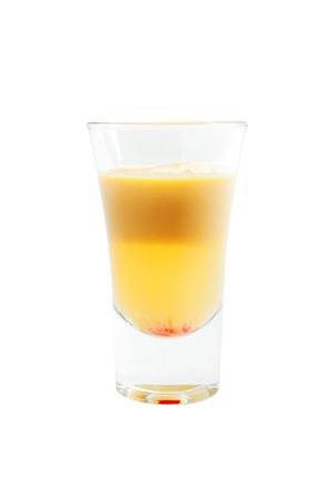 sex traffic: glass with alcoholic cocktails isolated on white background
