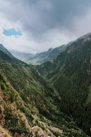 Transfagaras Highway, beautiful landscape of Romania. europe hiking