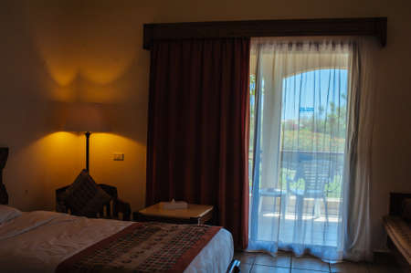 Interior detail from a 5 star luxury hotel resort near Hurghada, Egypt.