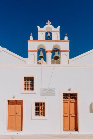 Old church in Santorini Island, Greece Stock Photo