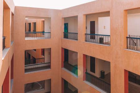 Modern Luxury Apartment Building. facade balcony