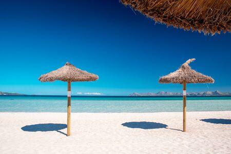Majorca Platja de Muro beach in Alcudia bay in Mallorca Balearic. islands of Spain