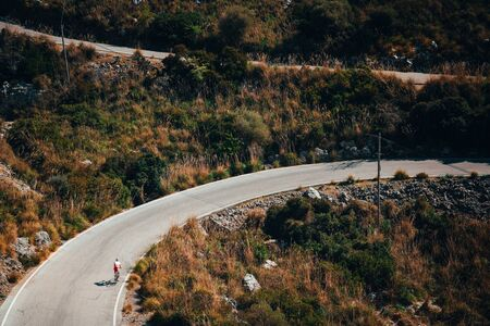 Sa Calobra, Mallorca. Road in mountains, favorite place for cyclist.