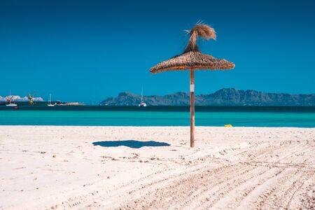 Majorca Platja de Muro beach in Alcudia bay in Mallorca. Balearic islands of Spain 免版税图像