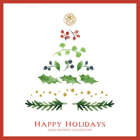 Christmas Item Illustrations/Trees Иллюстрация