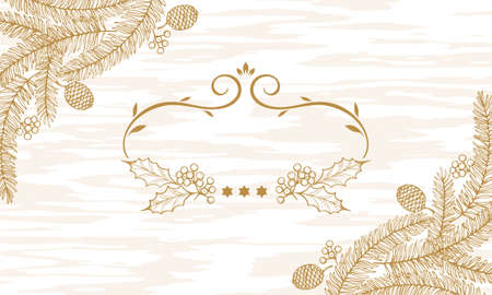 Christmas Item Illustrations/Background Wood