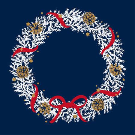 Traditional Christmas Wreath Illustrations Иллюстрация