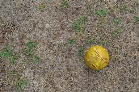 whack: old softball Stock Photo