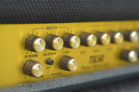 adjuster: KHONKAEN, THAILAND - December 15, 2016: Marshall amplifier JCM2000 TSL60. Marshall was founded by drum shop owner and drummer Jim Marshall, and is now based in Bletchley, Milton Keynes. Editorial