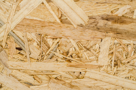 surface texture of oriented strand board (OSB), Wood board made from piece of wood