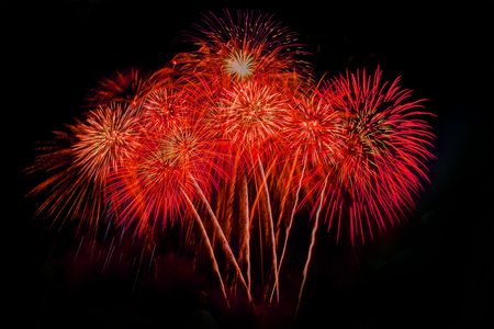 firework Abstract background,Fireworks light up the sky with dazzling display Stock Photo
