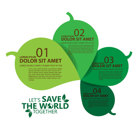 go green icons: save the world Illustration