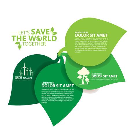 save the world Stock Illustratie