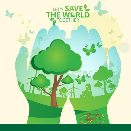 Sauver le monde Banque d'images - 33174021