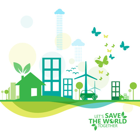 green infographic Illustration