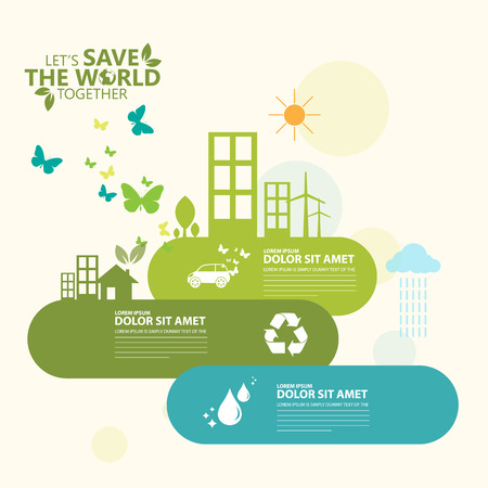 save planet: ecology infographic
