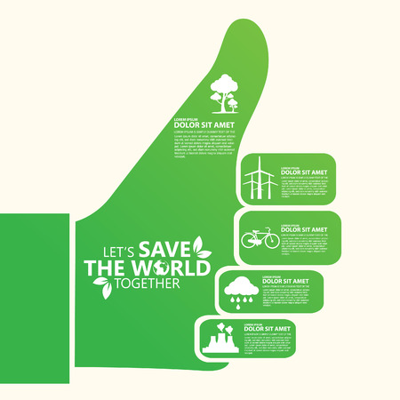 energy save: save the world Illustration