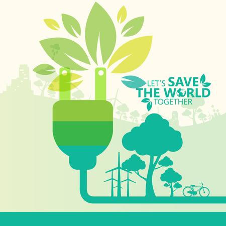 save the world Illustration