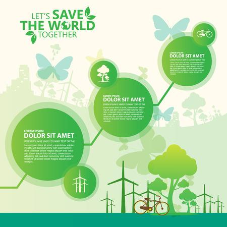 reciclar: salvar el mundo Vectores