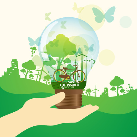 small lamp: save the world Illustration