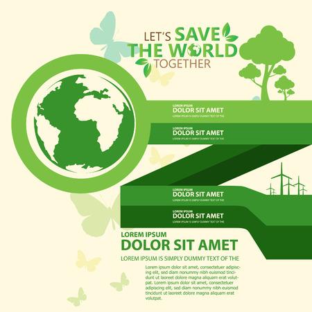 planeta verde: salvar el mundo Vectores