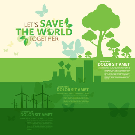 save earth: save the world Illustration