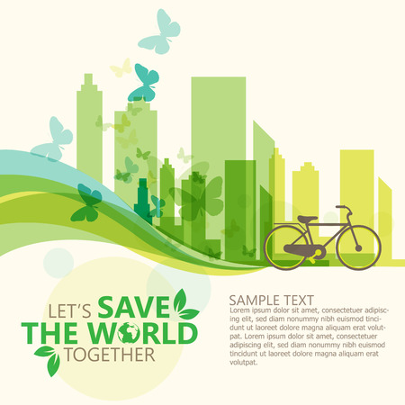 save the environment: save the world Illustration