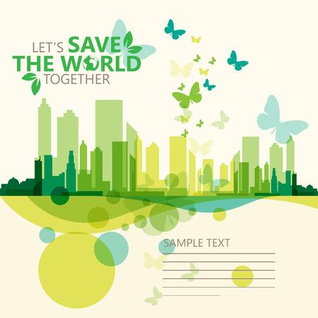 世界を救う  イラスト・ベクター素材