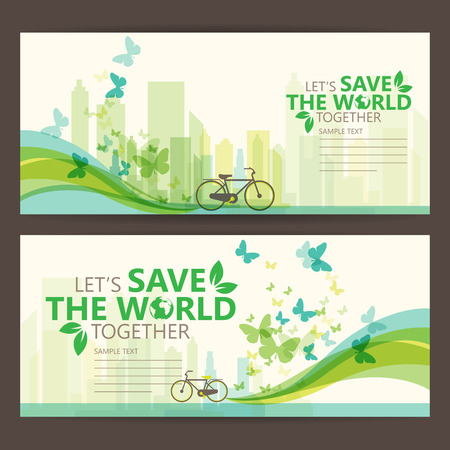 medio ambiente: salvar el mundo Vectores