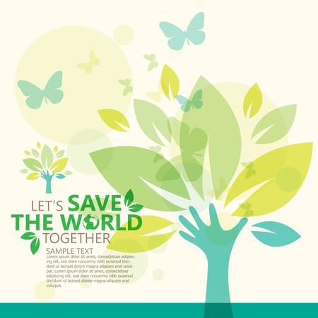 Salvar el mundo Foto de archivo - 36662111