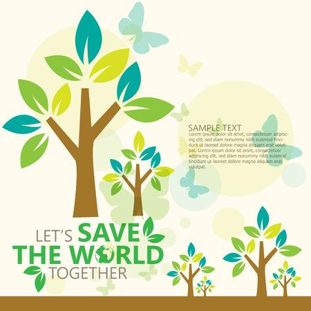 eco energy: save the world Illustration