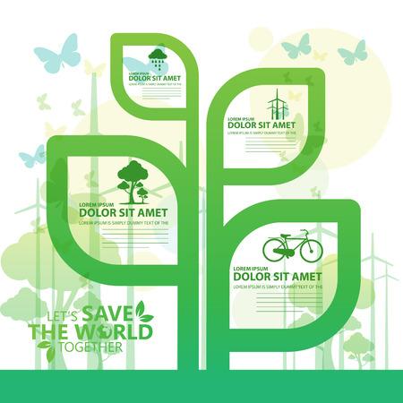 crecimiento planta: salvar el mundo Vectores