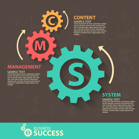 Business infographiccontent management system Vector
