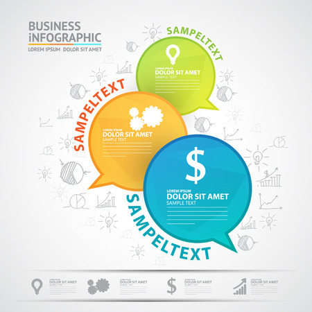 business words: Business infographic