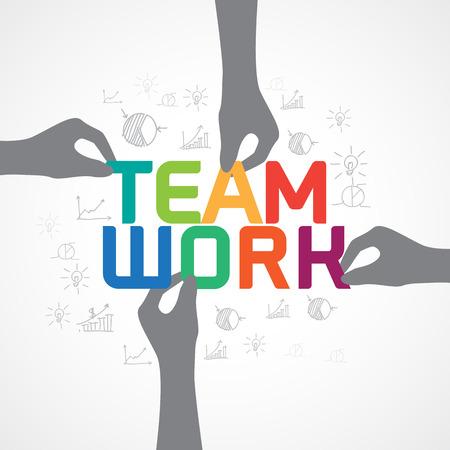 team spirit: Business infographic