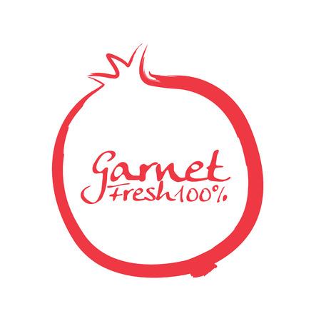 a pomegranate: pomegranate Illustration