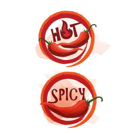 thai pepper: Spicy vector