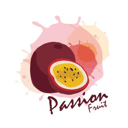 страсть: маракуйя Иллюстрация