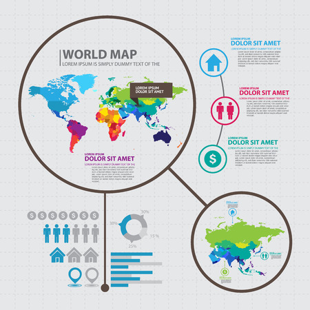 world map countries: map infographic
