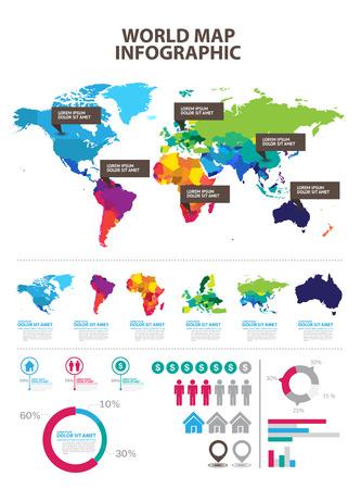 carte infographique Vecteurs