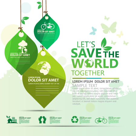 go green icons: environment