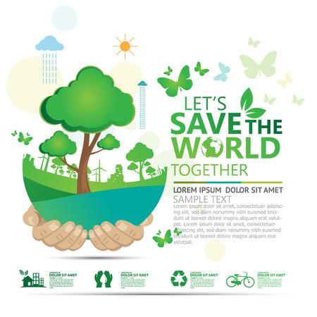 sostenibilidad: medio ambiente Vectores