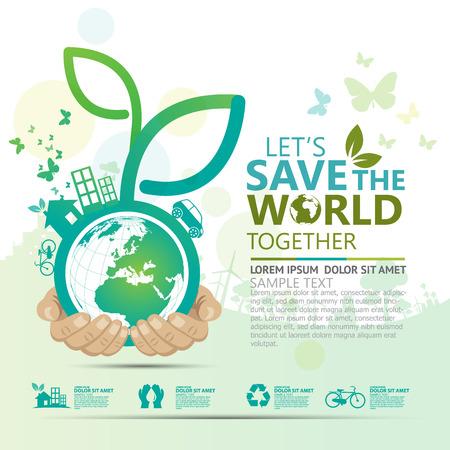 sustentabilidad: medio ambiente Vectores