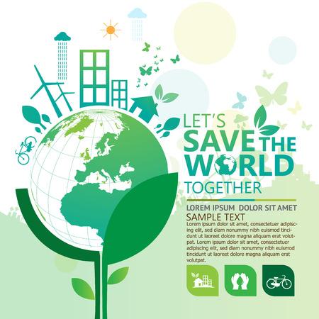 sustentabilidad: infograf�a ambiente Vectores
