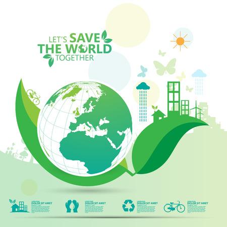 environment infographic Illusztráció