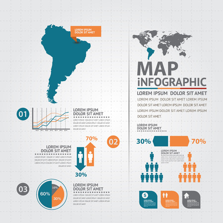 education icons: map infographic