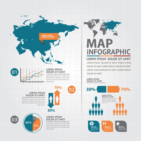 asia pacific map: map infographic