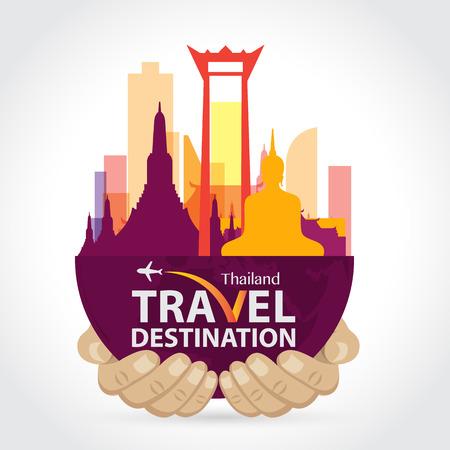 panorama city: Thailand vector