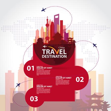shanghai china: china vector